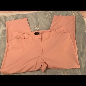 Talbots Blush Pink Cropped Pants Size 24W